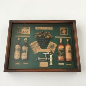 Wine Shadow Box Wall Art Home Decor Accent